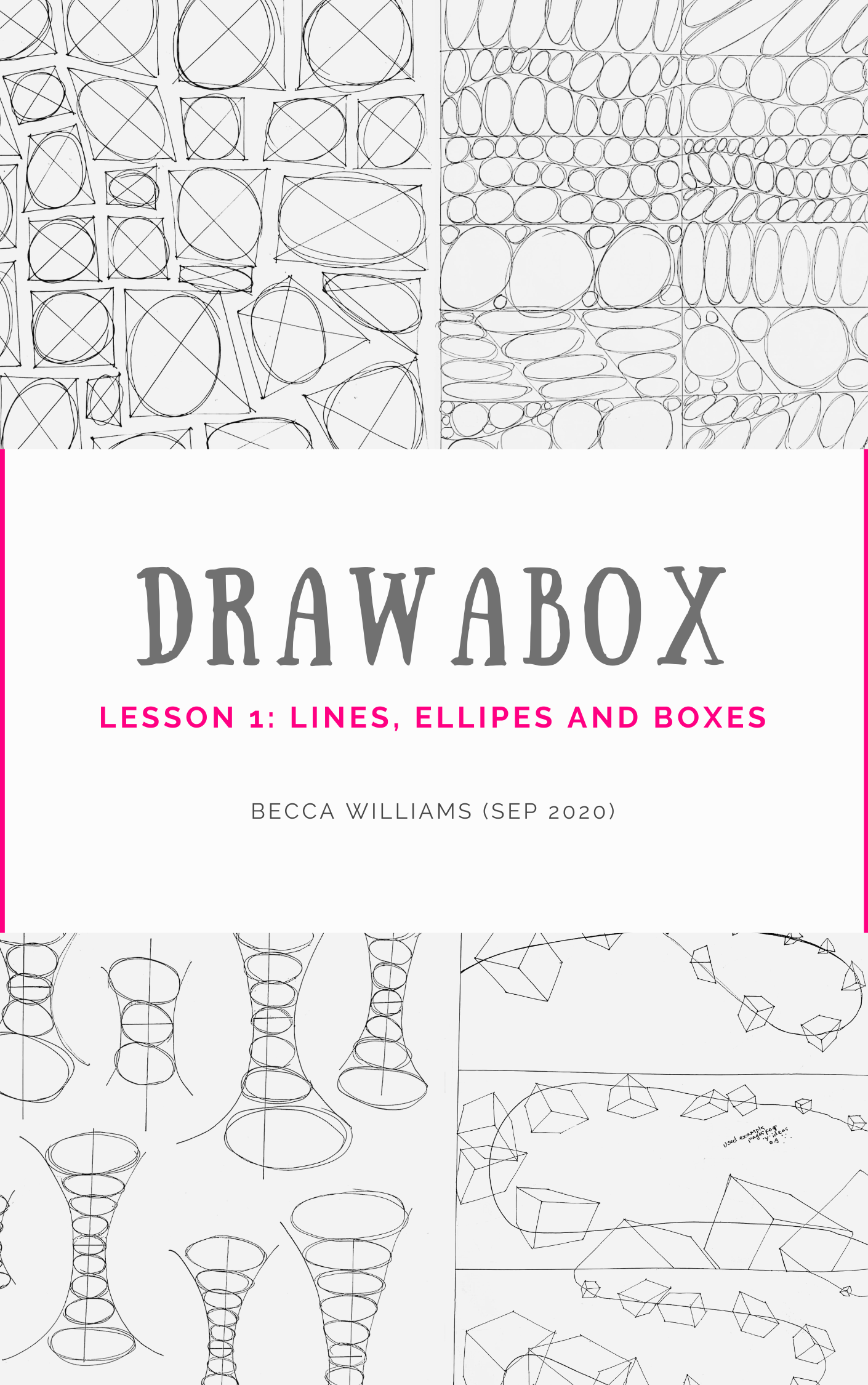 Drawabox lesson 1 ebook cover